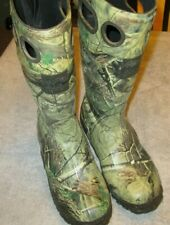 Itasca Scent Free Mens Size 9 Camo Steel Shank Rubber Waterproof Hunting Boots