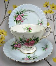 "Vintage Royal Albert ""LILY OF THE VALLEY"" Tea TRIO: Cup & Saucer, Cake Plate."
