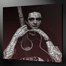 JOHNNY CASH CANVAS PICTURE PRINT WALL ART HOME DECOR 20 X 20 INCH FREE DELIVERY