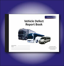 Vehicle Defect Report Book - 25 Part Duplicate - A5 Size