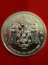 2009 $5 Canada Thunderbird .9999 Silver 1 Oz Vancouver Olympic Maple Leaf