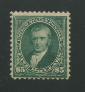 1894 United States Postage Stamp #263 Mint Hinged F/VF Original Gum Certified