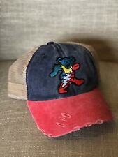 b0d07c90d1450 GRATEFUL DEAD Trucker Hat Bear Embroidered Patch Cap Music Band Distressed