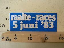 STICKER,DECAL RAALTE RACES 5 JUNI 1983 LUTTENBERGRING WEGRACE ROADRACING A
