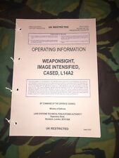 CWS L14A2  COMMON WEAPON SIGHT NIGHT SIGHT SCOPE GPMG SA80 L96A1 USER HANDBOOK