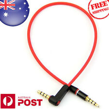 Universal Short 30cm Right Angle Male to Male 3.5mm Audio Aux TRRS Cable Z035AF