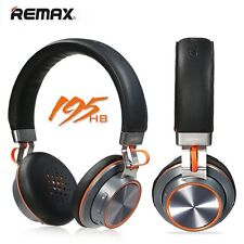 REMAX 195hb Waterproof Stereo Bluetooth Black Headset for iPhone Samsung Android
