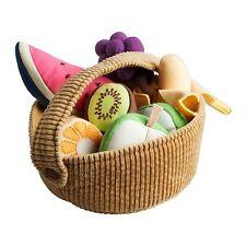 Ikea DUKTIG Fruit Basket Set - Soft Toy, 9-piece