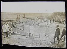 Glass Magic lantern slide RUSSO JAPANESE WAR - RUSSIAN ARTILLERY