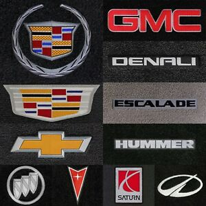 Ultimats 4pc Carpet Floor Mats for GM Vehicles - Choose Color & Logo