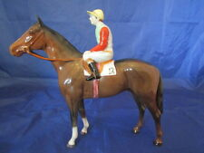 Beswick HORSE and JOCKEY issued 1963-84 Model 1862 Perfect (Brown Gloss)