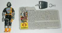 1986 GI Joe BATS Cobra Android Trooper Robot v1 Figure File Card *REPO PARTS*