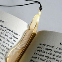 1pcs Lovely Gold Plated Metal Hollow Animal Feather Bookmark Paper Book Reading