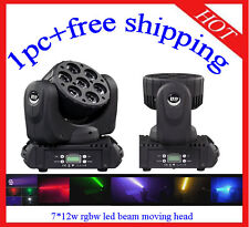 7*12W Led Beam Moving Head RGBW Wash Light Stage Club DJ Light 1pc Free Shipping
