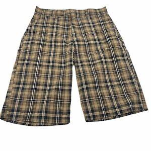 NBN Gear Men's Plaid Bermuda Shorts Size 34