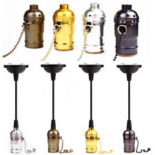 Easesign E27/26 Retro Edison Bulbs Vintage Pull Chain Switch Screw Socket