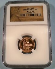 2009-D NGC MS67RD PROFESSIONAL LIFE LINCOLN CENT 1c MS 67 RD RED