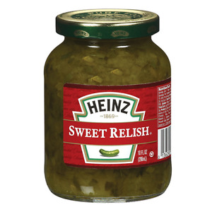 Heinz Sweet Relish 296ml  GLASS BOTTLE (2 PACK)