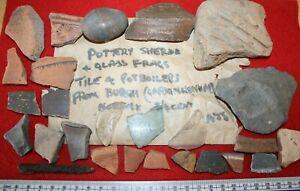 Roman pottery fragment shard collection Norfolk Burgh Gariannonum 1970s