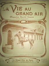 GD PRIX HIPPIQUE PARIS PELOTE BASQUE AYESTARRAN DEL CAMBO VIE AU GRAND AIR 1902