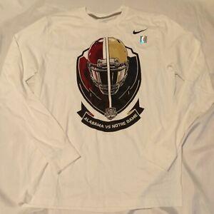 Nike Alabama vs Notre Dame 2013 BCS Game T-Shirt men's Size L bama irish l/s