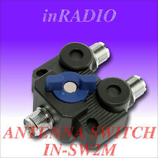 INRADIO IN-SW2M 2-POSITION ANTENNA SWITCH WITH M CONNECTORS SO239 PL UC1 INSW2M