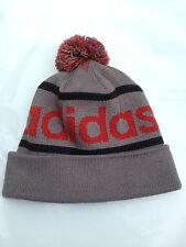 Adidas Originals Mercer Ballie Pom Beanie Winter Hat Gray/Red/Black NWT