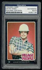 David Hodo signed autograph auto 1979 Village People Trading Card PSA Slabbed