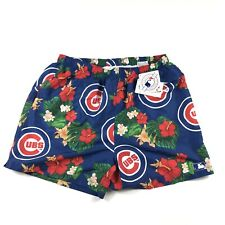 NWT Chicago Cubs MLB Genuine Merchandise Hawaiian Swim Trunks Shorts Men's 2XL