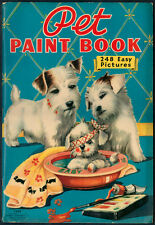 "UNCOLORED ""Pet Paint Book"" #3449 Merrill 1939 (5556)"