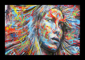 LARGE 90cm x 60cm  Graffiti Street Art Print Satin poster Painting