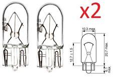 2X AMPOULE 12V 5W T10 W2.1x9.5d VOITURE TABLEAU DE BORD COMPTEUR FEU POSITION