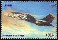 US Navy GRUMMAN F-14 TOMCAT Fighter Aircraft Stamp (2003 Liberia)