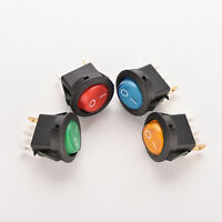 5 X Car 12V ON//OFF Round Boat Toggle Switch Push Button White  R ZY