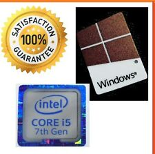 Intel inside Core i5 GEN 7 FREE WINDOWS 10 computer sticker PC Genuine Base 8 xp