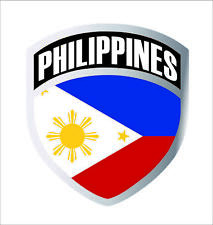Philippines Filipino Flag Shield Decal Badge Car Motorcycle Window Decal Sticker