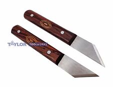 Made in UK Crown Pair Right & Left Hand Marking Striking Knives Rosewood Handle