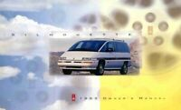 1993 Oldsmobile Silhouette Owners Manual User Guide