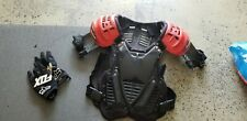 Fox Racing Inc Chest Protector Red & Black W/ Set Of Black Gloves