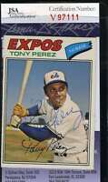 Tony Perez 1977 Topps Jsa Coa Hand Signed Authentic Autograph
