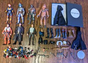 Star Wars Black Series Lot + Custom Fodder Premium Luke Cloak Jango Fett Bludd