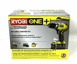 RYOBI 18V ONE+ Lithium-Ion Drill/Driver Kit w/ 4 Ah Battery, Charger & Bag P1814