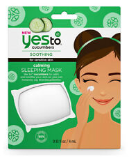 Yes To Cucumbers Soothing & Calming Single Use Face/Facial SLEEPING MASK