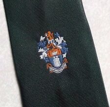 TOOTAL CRESTED CLUB ASSOCIATION TIE SOCIETY CREST LOGO 1970s 1980s DARK GREEN