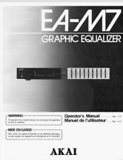 AKAI EA-M7 Stereo Graphic Equalizer Operating Instruction EQ USER MANUAL