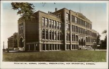 Fredericton New Brunswick Normal School Tinted Real Photo Postcard