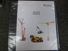 Manitowoc Model 1400H Crane Owner Operator & Shop Service Repair Manual Book