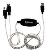 MIDI USB IN-OUT Schnittstellenkabel Kabel Konverter PC zum Musik Tastatur A N8X2