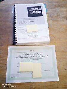 Livret 2 VAE DEASS ASSISTANTE DE SERVICE SOCIAL 166 PAGES. VALIDÉ. ENVOI RAPIDE