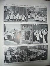 Printed photos Jubiiee Church Congress at Ely 1910 ref An